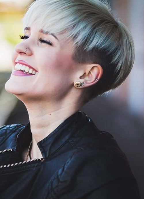 55 Short Hairstyles For Women With Thin Hair | Fashionisers In Pixie Undercut Hairstyles For Women Over (View 25 of 25)