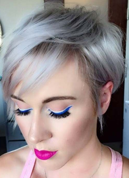 Featured Photo of Silver Pixie Hairstyles For Fine Hair