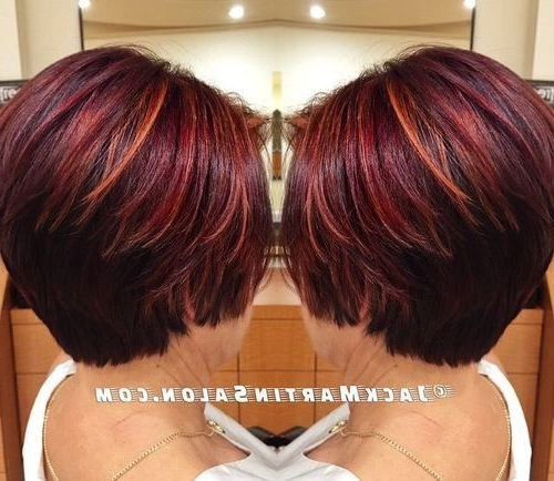 60 Auburn Hair Colors To Emphasize Your Individuality In 2018 Within Burnt Orange Bob Hairstyles With Highlights (Gallery 6 of 25)