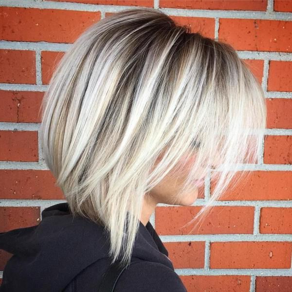 60 Beautiful And Convenient Medium Bob Hairstyles In 2018 Intended For Layered Platinum Bob Hairstyles (Gallery 1 of 25)