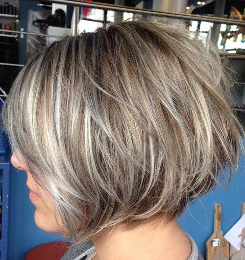 60 Best Short Bob Haircuts And Hairstyles For Women In 2018 | Hair In Layered Tousled Salt And Pepper Bob Hairstyles (View 7 of 25)