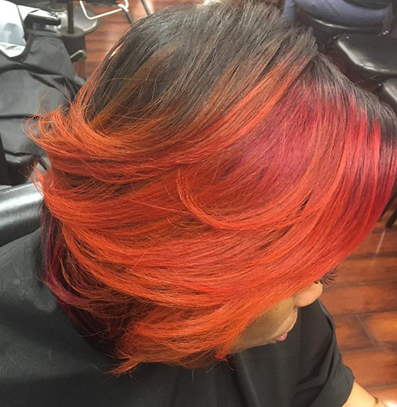 60 Bob Haircuts For Black Women Within Burnt Orange Bob Hairstyles With Highlights (View 7 of 25)