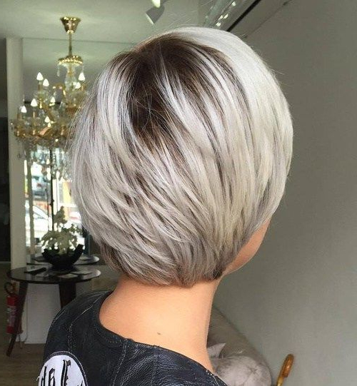 60 Classy Short Haircuts And Hairstyles For Thick Hair | Short Hair Pertaining To Layered Platinum Bob Hairstyles (Gallery 3 of 25)