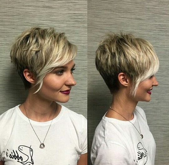 60 Cool Short Hairstyles & New Short Hair Trends! Women Haircuts 2017 Intended For Asymmetrical Pixie Bob Hairstyles (View 14 of 25)