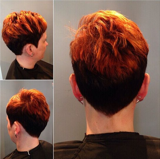 60 Cool Short Hairstyles & New Short Hair Trends! Women Haircuts 2017 Regarding Textured Pixie Hairstyles With Highlights (Gallery 23 of 25)
