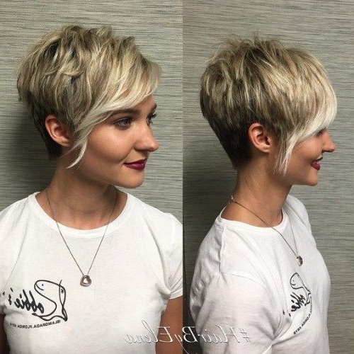 60 Cute Short Pixie Haircuts – Femininity And Practicality In 2018 Throughout Choppy Pixie Hairstyles With Tapered Nape (Gallery 11 of 25)
