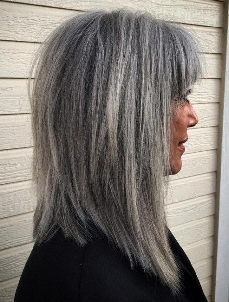 60 Gorgeous Gray Hair Styles | Hair | Pinterest | Hair, Hair Styles Intended For Layered Tousled Salt And Pepper Bob Hairstyles (View 6 of 25)