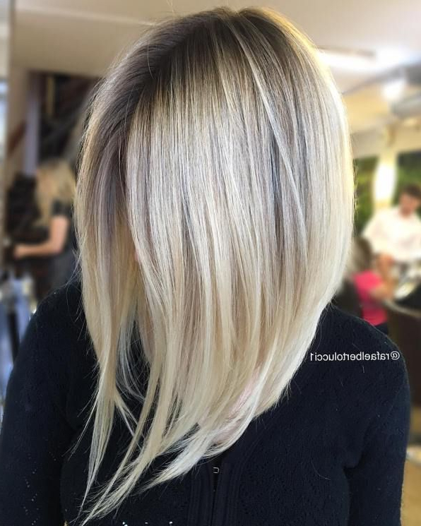60 Inspiring Long Bob Hairstyles And Haircuts | Hair Flair Intended For Classy Slanted Blonde Bob Hairstyles (Gallery 19 of 25)