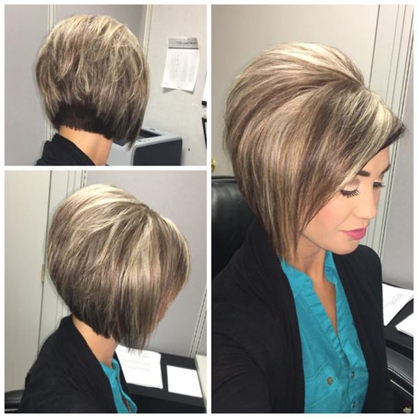 61 Charming Stacked Bob Hairstyles That Will Brighten Your Day Pertaining To Stacked Bob Hairstyles With Bangs (View 2 of 25)