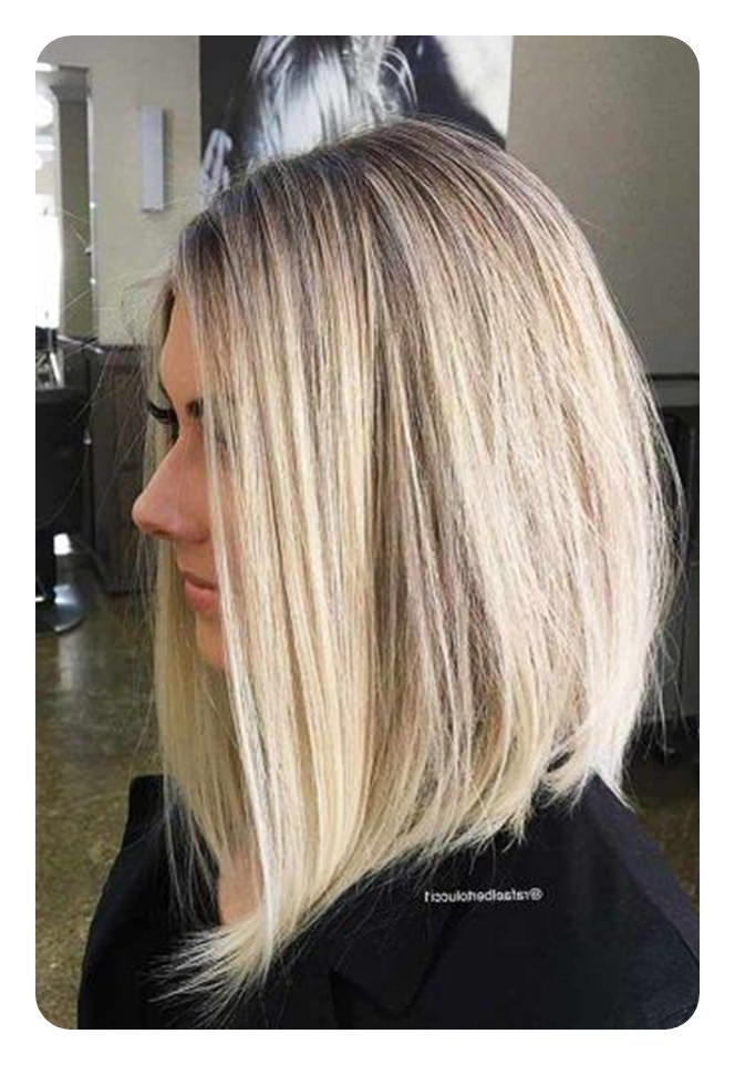 63 Refreshing Long Bob Hairstyles For 2018 With Sleek Gray Bob Hairstyles (Gallery 14 of 25)