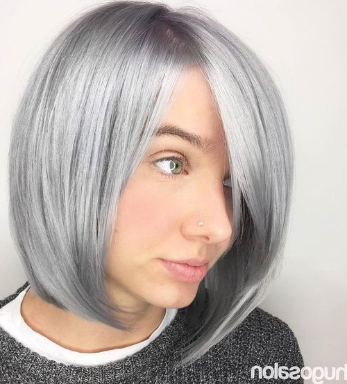 70 Best A Line Bob Hairstyles Screaming With Class And Style Intended For Sleek Gray Bob Hairstyles (Gallery 1 of 25)