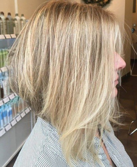 70 Best A Line Bob Hairstyles Screaming With Class And Style With Blonde Balayage Bob Hairstyles With Angled Layers (Gallery 22 of 25)