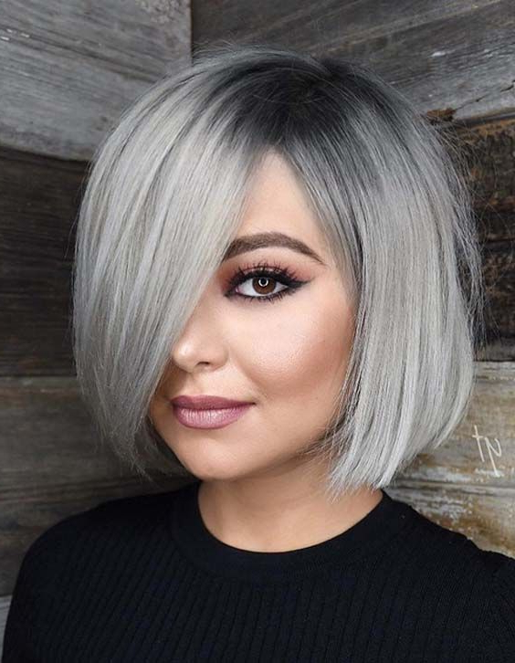 70 Stunning Sleek & Silver Colored Bob Haircut Styles 2018 | Gray With Sleek Gray Bob Hairstyles (Gallery 3 of 25)