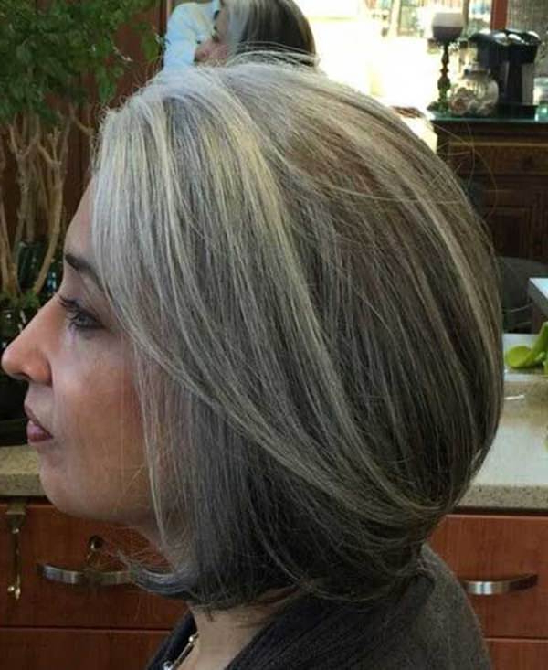 75 Amazing Hairstyles For Any Woman Over 40 – Style Easily Pertaining To Gray Bob Hairstyles With Delicate Layers (Gallery 19 of 25)