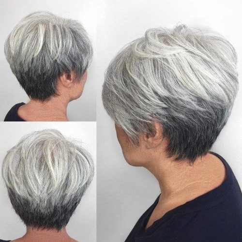 80 Best Modern Haircuts And Hairstyles For Women Over 50 In 2018 throughout Cropped Gray Pixie Hairstyles With Swoopy Bangs
