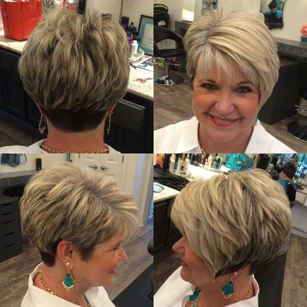 80 Best Modern Haircuts And Hairstyles For Women Over 50 | Pixies Within Over 50 Pixie Hairstyles With Lots Of Piece Y Layers (Gallery 9 of 25)