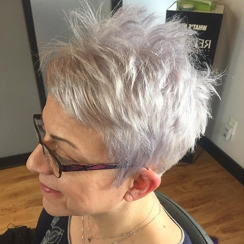 80 Classy And Simple Short Hairstyles For Women Over 50 – Page 18 Throughout Lavender Hairstyles For Women Over 50 (Gallery 6 of 25)