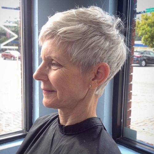 80 Classy And Simple Short Hairstyles For Women Over 50 – Page 42 regarding Silver And Sophisticated Hairstyles