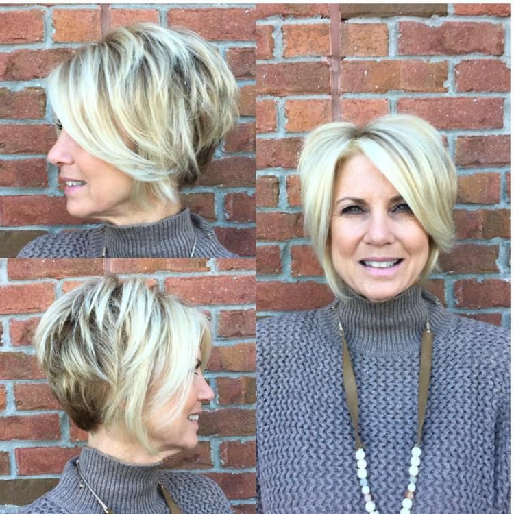 90 Classy And Simple Short Hairstyles For Women Over 50 | Hair With Chic Blonde Pixie Bob Hairstyles For Women Over (View 4 of 25)