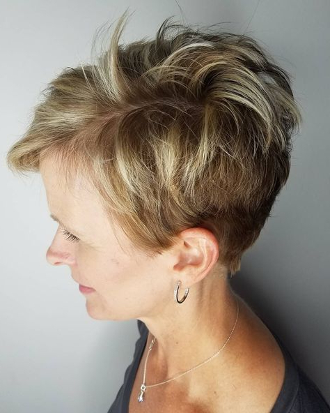 90 Classy And Simple Short Hairstyles For Women Over 50 | Hairstyles Inside Messy Pixie Hairstyles With Chunky Highlights (View 3 of 25)