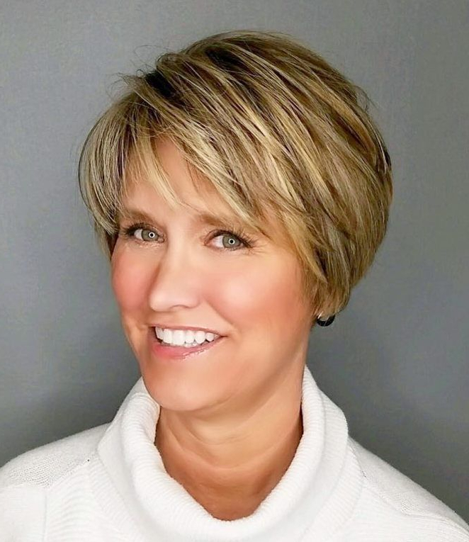 90 Classy And Simple Short Hairstyles For Women Over 50 In 2018 For Short Voluminous Feathered Hairstyles (View 1 of 25)