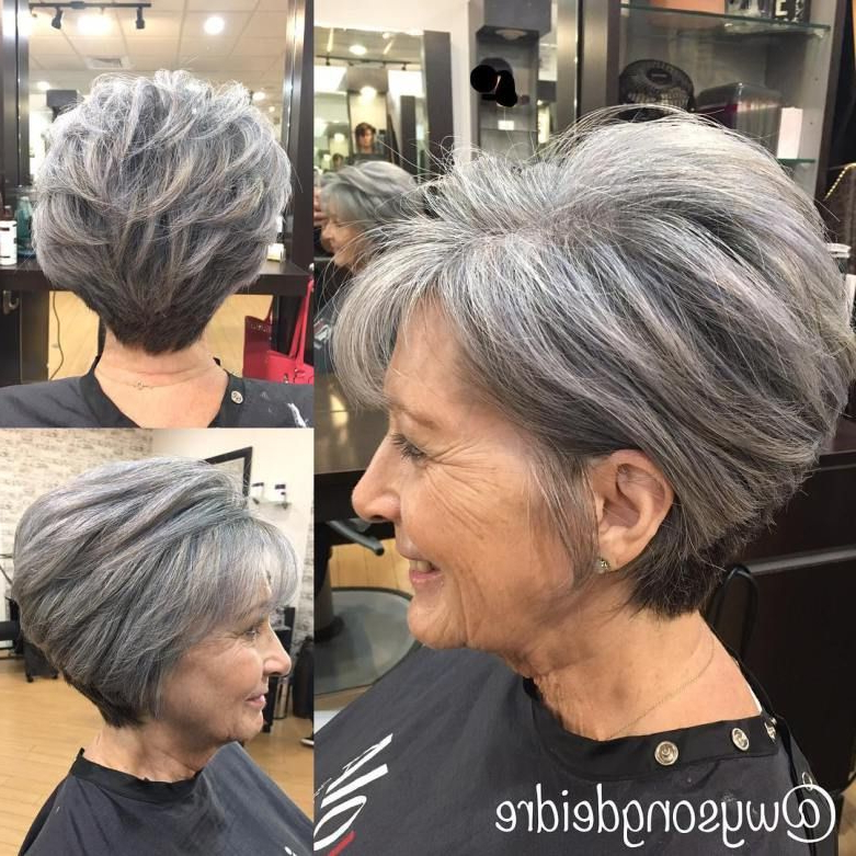 90 Classy And Simple Short Hairstyles For Women Over 50 In 2018 Pertaining To Salt And Pepper Voluminous Haircuts (View 3 of 25)