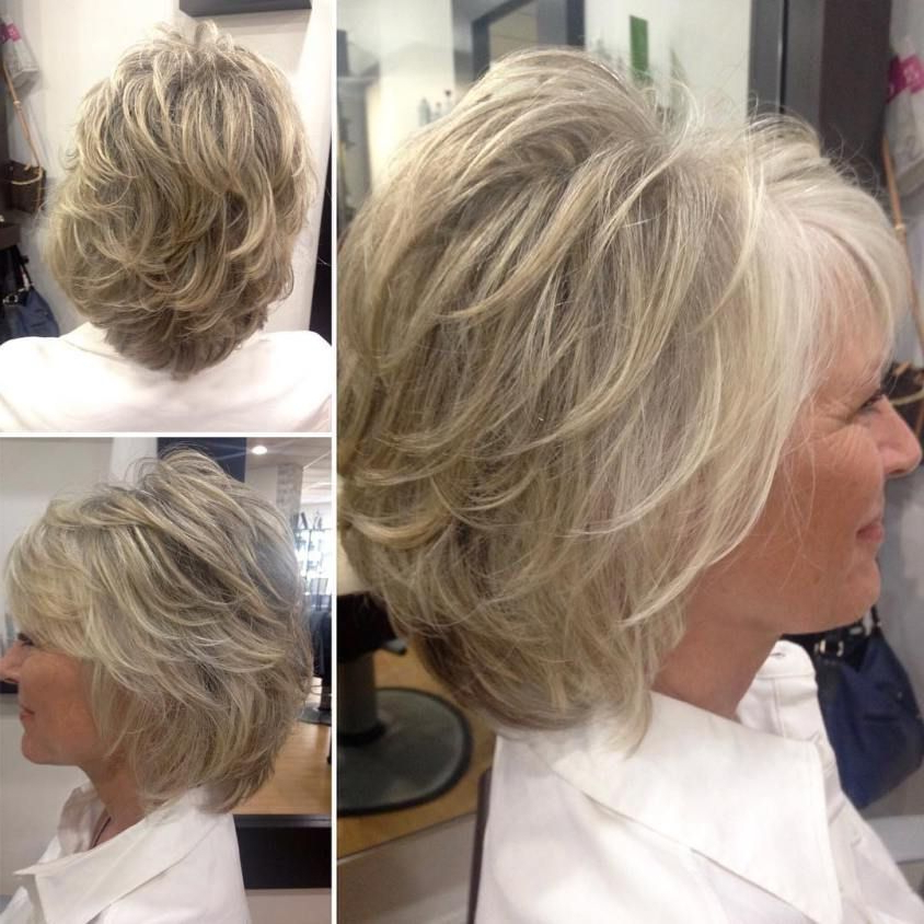 90 Classy And Simple Short Hairstyles For Women Over 50 In 2018 Throughout Gray Hairstyles With High Layers (View 1 of 25)