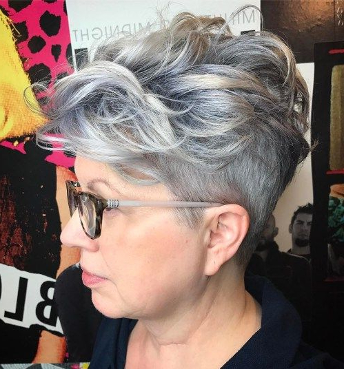 90 Classy And Simple Short Hairstyles For Women Over 50 In 2018 Throughout Pixie Undercut Hairstyles For Women Over (View 2 of 25)