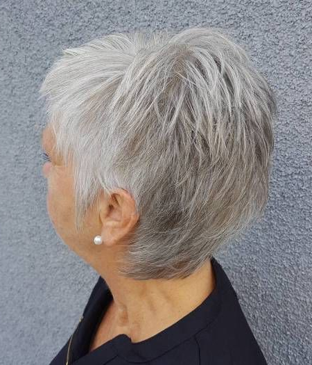 90 Classy And Simple Short Hairstyles For Women Over 50   Pixies Pertaining To Salt And Pepper Voluminous Haircuts (View 13 of 25)
