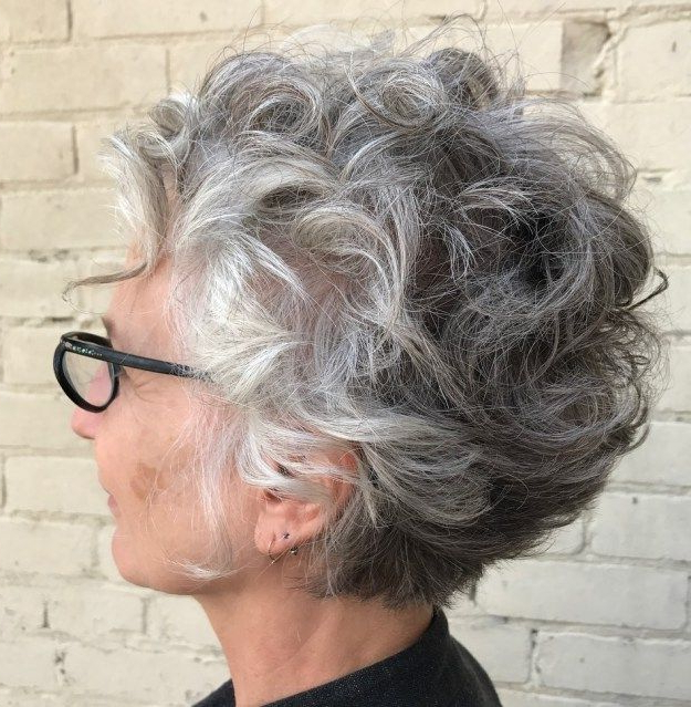 Featured Photo of Long Curly Salt And Pepper Pixie Hairstyles