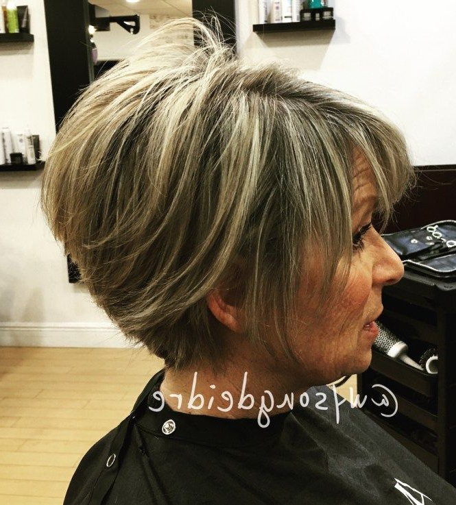 90 Classy And Simple Short Hairstyles For Women Over 50   Wow Hair With Regard To Pixie Bob Hairstyles With Blonde Babylights (View 3 of 25)