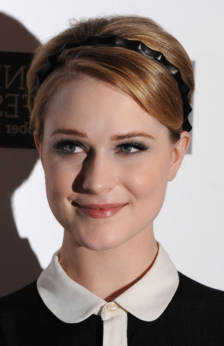 Adorable, Youthful, Short Pixie With Headband – Evan Rachel Wood Regarding Youthful Pixie Haircuts (Gallery 6 of 25)