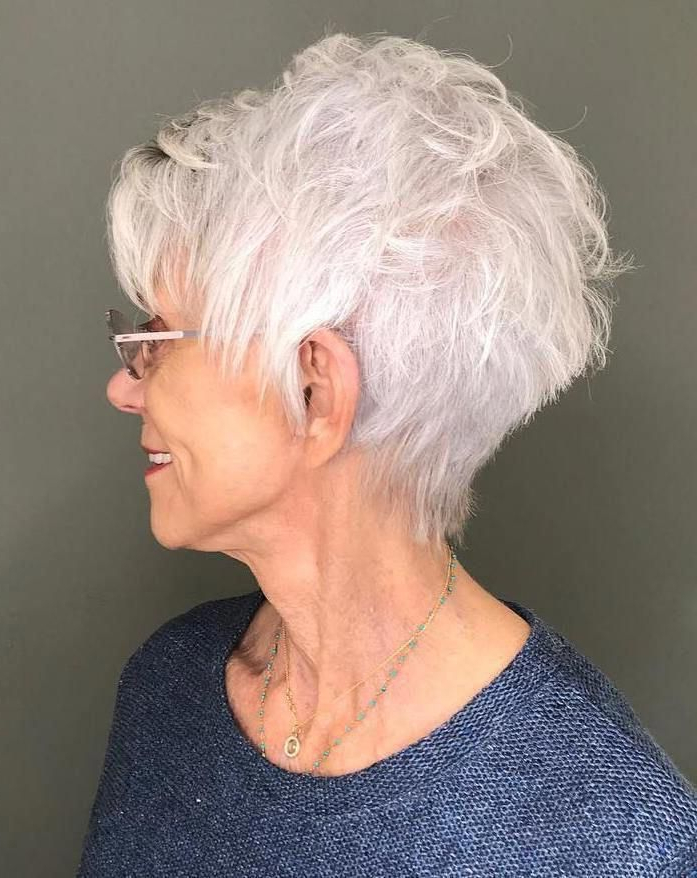 Airy Gray Pixie With Feathered Layers #shorthairstyles | Short With Airy Gray Pixie Hairstyles With Lots Of Layers (Gallery 1 of 25)