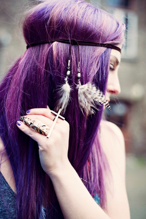 Alternative Hairstyles: 'purple Haze' Hippy Chic – Hairstyles Weekly Inside Purple Haze Hairstyles (Gallery 1 of 25)