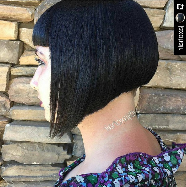 Angled Bob Hairstyle – Undercut Short Hair – Popular Haircuts Regarding Angled Undercut Hairstyles (Gallery 3 of 25)