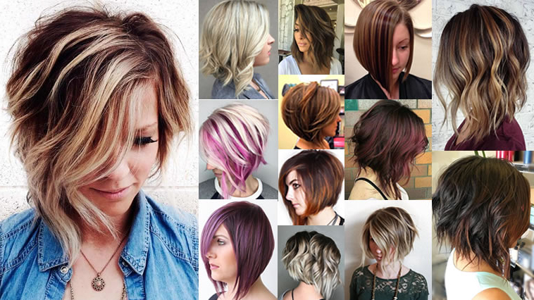 Asymmetrical Short Haircuts With Balayage Highlights 2018 – 2019 Inside Short Asymmetrical Bob Hairstyles (Gallery 21 of 25)