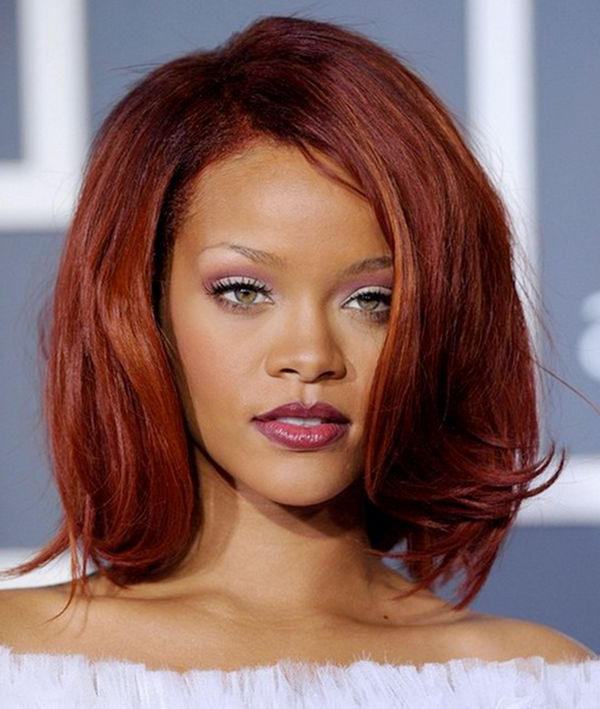 Auburn Hair Color Ideas, Best Red Hairstyles With Highlights (View 21 of 25)