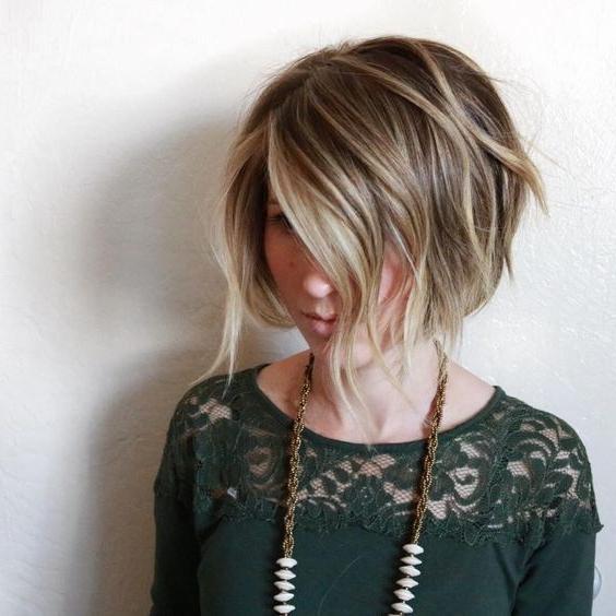 Balayage Bob Haircut – Women Short Hair Styles – Popular Haircuts With Regard To One Length Balayage Bob Hairstyles With Bangs (View 25 of 25)