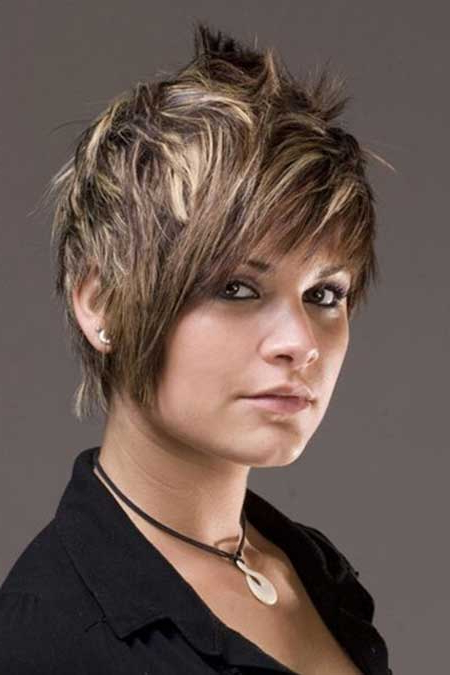 Balayage Hairstyles For Short Length Hair Inside Pixie Bob Hairstyles With Blonde Babylights (View 11 of 25)