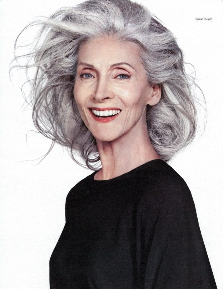 Beautiful Gray Hair Cuts – Hair World Magazine With Regard To Wispy Silver Bob Hairstyles (View 19 of 25)