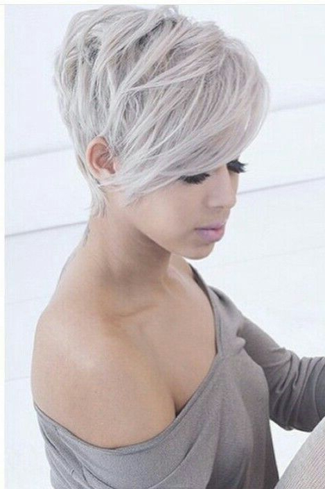 Beloved Short Haircuts For Women With Round Faces | Short Hair With Regard To Cropped Gray Pixie Hairstyles With Swoopy Bangs (View 7 of 25)