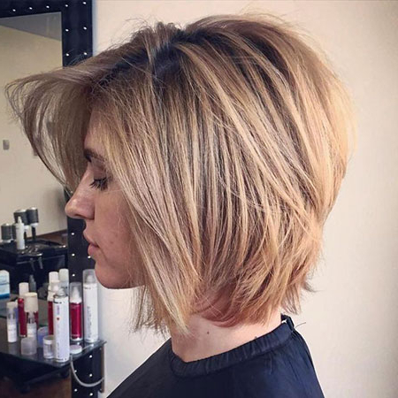 Best 25+ Layered Bob Hairstyles | Short Hairstyles 2018 – 2019 With Regard To Honey Blonde Layered Bob Hairstyles With Short Back (View 17 of 25)