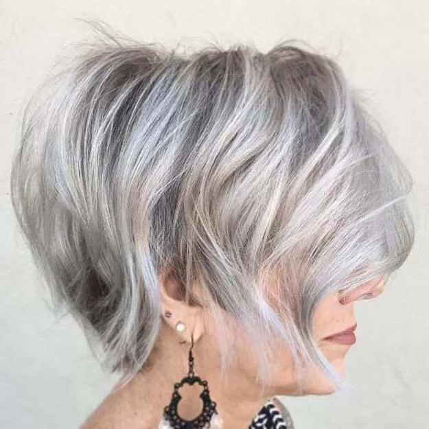 Featured Photo of Wispy Silver Bob Hairstyles