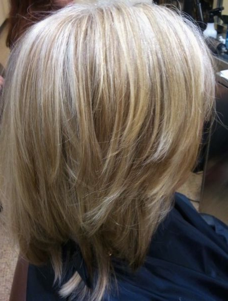 Blending Gray With Blonde Hair | Hnczcyw | Blending Gray With With Regard To Gray Hairstyles With High Layers (View 2 of 25)
