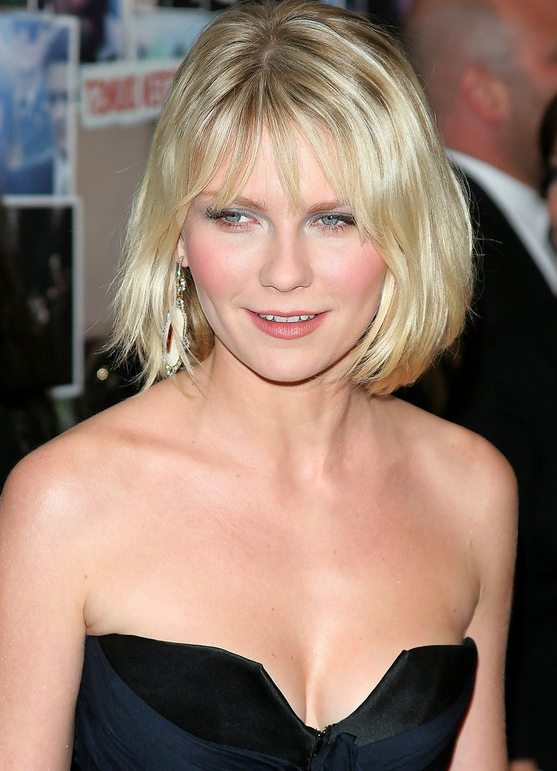Bob Hairstyle For Women: Simple Blonde Bob With Fringe – Kirsten In Blonde Bob Hairstyles With Bangs (View 7 of 25)