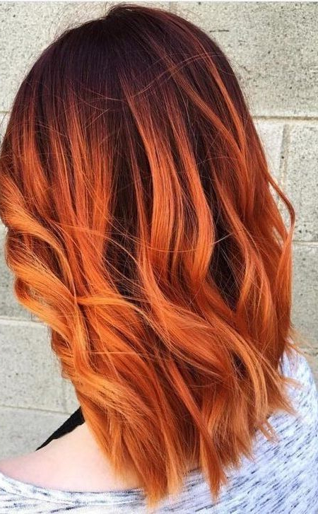 Burnt Orange Hair | Hair In 2018 | Pinterest | Hair, Hair Styles And Throughout Burnt Orange Bob Hairstyles With Highlights (View 3 of 25)