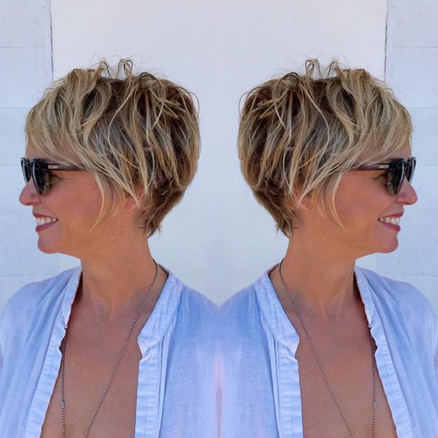 """Color [ """"brown Pixie Bob With Blonde Highlights Eyebrow Makeup Tips Regarding Pixie Bob Hairstyles With Blonde Babylights (View 2 of 25)"""