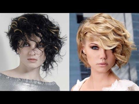 Curly Asymmetrical Bob Haircut For Short Hair & Short Bob Hair With Short Asymmetrical Bob Hairstyles (View 18 of 25)