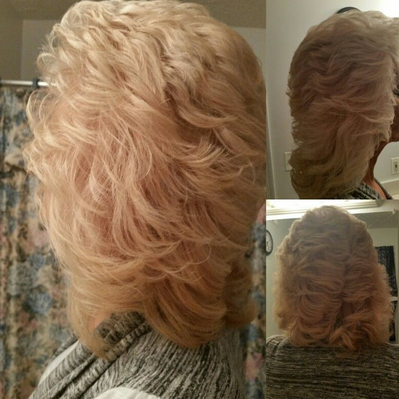 Cut So It Can Feather Back. Blended Layers To Length (View 18 of 25)