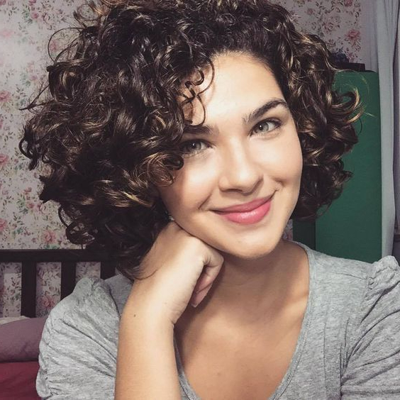 Cute Short Curly Hairstyles – Leymatson With Regard To Short Curly Hairstyles (View 18 of 25)